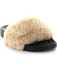 Seven7 - Davinci Faux Fur Pool Slide Sandal - Lyst