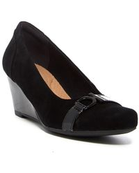 Clarks - Flores Poppy Wedge Pump - Wide Width Available - Lyst