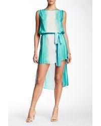Analili - Boatneck Sleeveless Silk Dress - Lyst