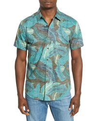 Life After Denim | 'providence' Trim Fit Print Woven Shirt | Lyst