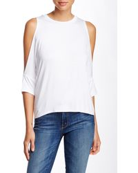 Lily White - Drop Shoulder Tee - Lyst