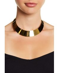Argento Vivo - 18k Gold Plated Collar Necklace - Lyst