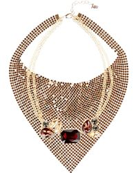 ABS By Allen Schwartz - Glass Stone Necklace - Lyst