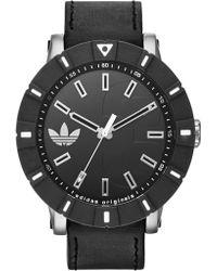 adidas Originals - Men's Amsterdam Leather Strap Watch - Lyst