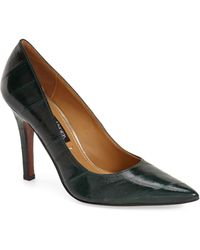 Kay Unger - 'ainsly' Pointy Toe Eelskin Pump (women) - Lyst