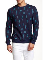 Altru - Printed Long Sleeve Sweater - Lyst