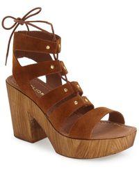 J/Slides - Amelia Suede Platform Sandals - Lyst