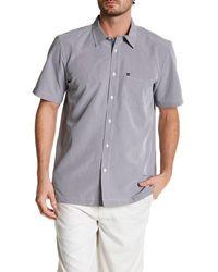 Quiksilver - Short Sleeve Regular Fit Pocket Shirt - Lyst
