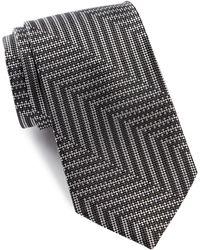 Bugatchi - Mixed Stripe Silk Tie - Lyst