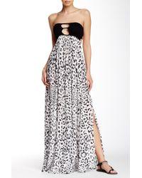 Indah - August Crocheted Accent Maxi Dress - Lyst
