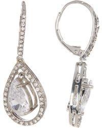 Betsey Johnson - Cz Pave Dangling Teardrop Earrings - Lyst
