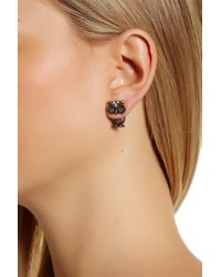 Betsey Johnson - Rhinestone Owl Earring Jackets - Lyst