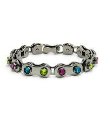 Nicole Miller - Cycle Gear Chain Bracelet - Lyst