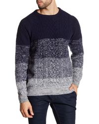 Barque - Gradient Cable Knit Sweater - Lyst