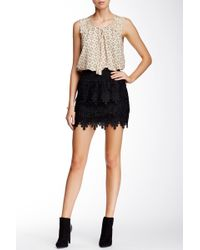 Blu Pepper - Tiered Lace Skirt - Lyst