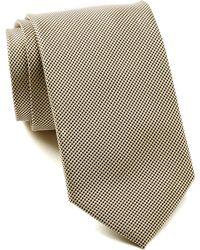 Bristol & Bull - Grey & Gold Micro Medallion Silk Tie - Lyst