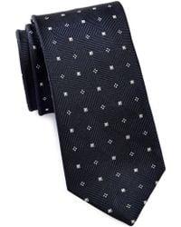Bristol & Bull - Zigzag Ribbed Mini Medallion Silk Tie - Lyst