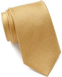Bristol & Bull - Gold Small Medallion Silk Tie - Lyst