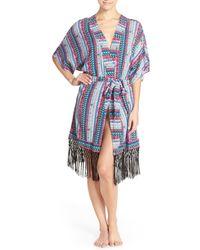 Bollydoll - Fringe Short Robe - Lyst