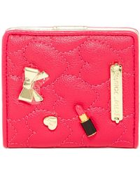 Betsey Johnson - Mini Faux Leather Bifold Wallet - Lyst