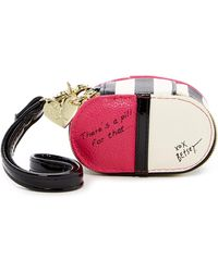 Betsey Johnson - Faux Leather Pill Box - Lyst