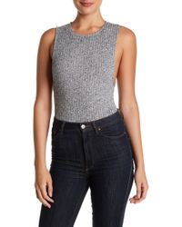 Bella Luxx - Marled Sweater Bodysuit - Lyst