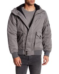Bench - Pallor Hooded Bomber Jacket - Lyst
