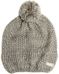 Bench - Smoked Pearl Knit Bobble Beanie - Lyst