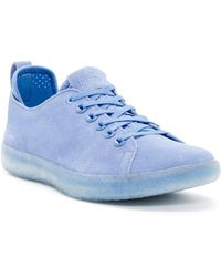 BLUPRINT - Los Angeles Suede Perforated Sock Lined Sneaker - Lyst