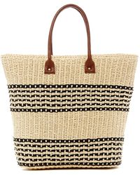 San Diego Hat Company | Striped Woven Seagrass Tote | Lyst