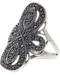Savvy Cie Jewels - Sterling Silver Cutout Shield Ring - Size 7 - Lyst