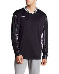 Asics - Digg Long Sleeve Two-tone Pullover - Lyst
