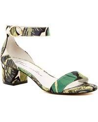 Bettye By Bettye Muller - Buzz Tropical Print Chunky Sandal - Lyst