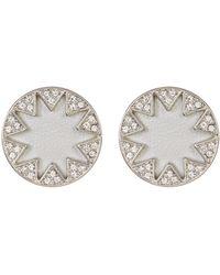 House of Harlow 1960 - Embellished Sunburst Bezel Round Earrings - Lyst