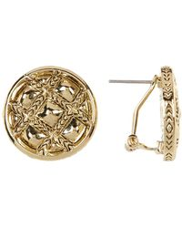 House of Harlow 1960 - Phoebe Quilted Button Earrings - Lyst