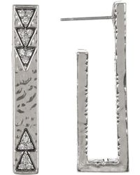 House of Harlow 1960 - Accented U-shaped Bar Stud Earrings - Lyst