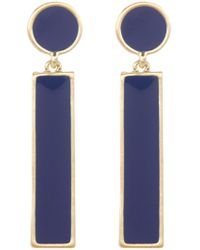 Karen Kane - Endless Coastline Linear Drop Earrings - Lyst