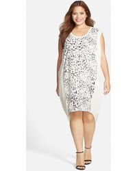 Carmakoma - 'aldgate 2' Placed Print Tunic Dress - Lyst