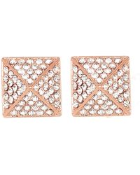 Vince Camuto | Crystal Pave Stud Earrings | Lyst