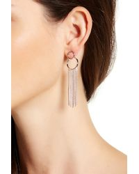 Vince Camuto - Open Circle Fringed Ear Jacket Earrings - Lyst