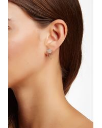 Vince Camuto - Pave Disc Draped Chain Stud Earrings - Lyst