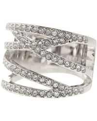 Vince Camuto - Negative Space Crystal Pave Ring - Size 8 - Lyst
