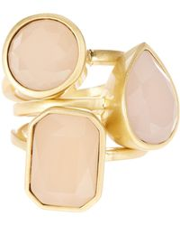 Vince Camuto - Glass Stone Stack Rings Set - Size 7 - Lyst