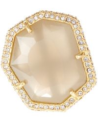 Vince Camuto - Pave Border Stone Ring - Size 7 - Lyst