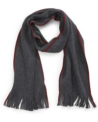 Calibrate - Raschel Border Stripe Wool Scarf - Lyst