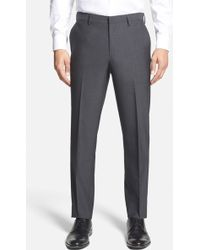 Calibrate - Wool & Mohair Flat Front Trousers - Lyst