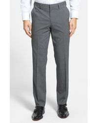 Calibrate - Flat Front Houndstooth Trouser - Lyst