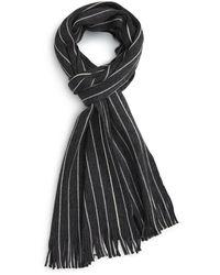 Calibrate - Modern Stripe Wool Scarf - Lyst