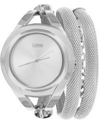 Catherine Malandrino - Women's Mesh Metal Tube Wrap Bracelet Watch - Lyst