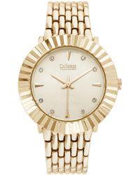 Catherine Malandrino - Women's Faceted Crystal Embellished Bracelet Watch - Lyst